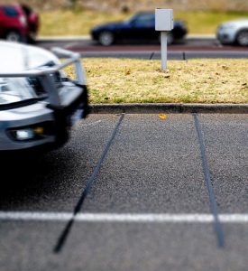 Piezoelectric Sensor Dug into Road