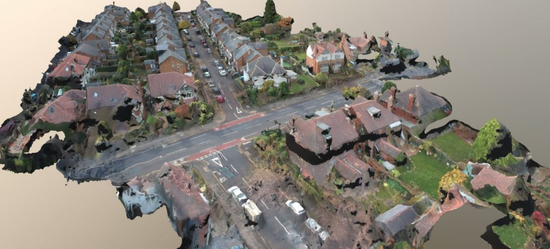 Aerial 3D Model Created with Drone Through Photogrammetry