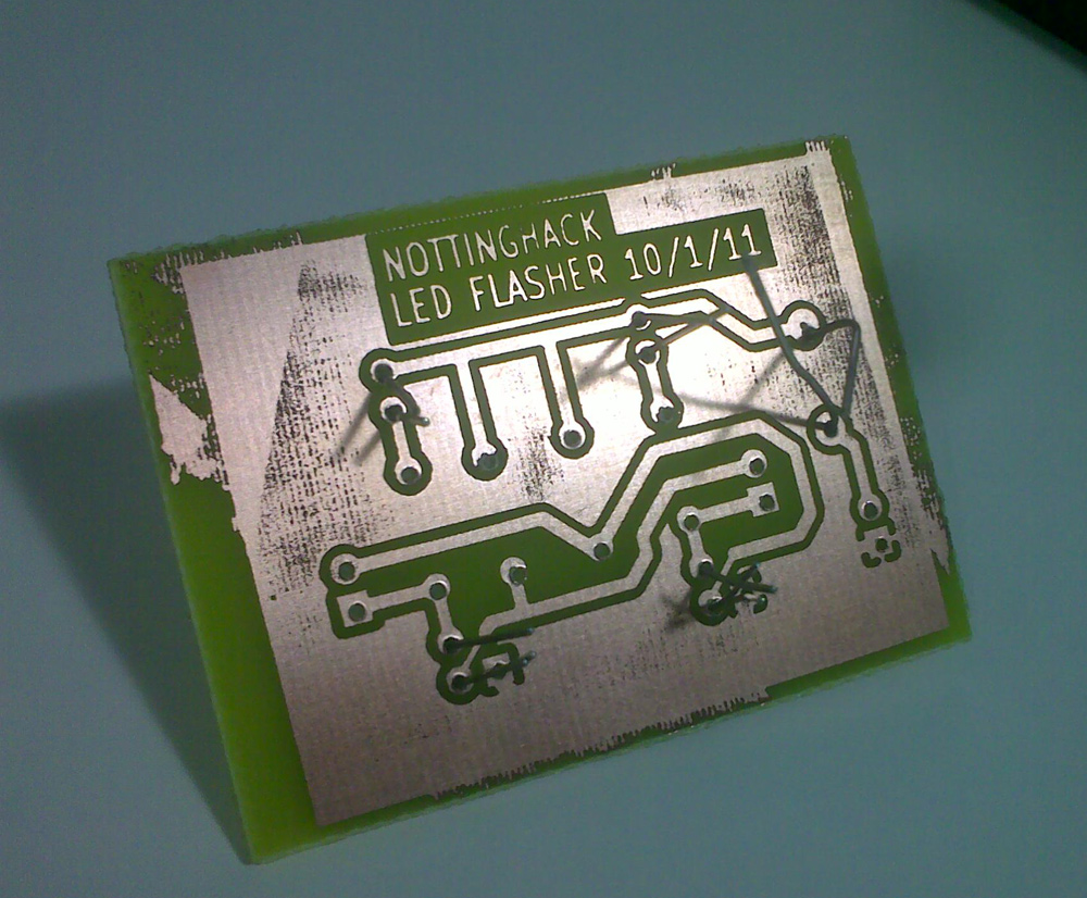 Circuit Board Paper Acid Etched
