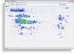 ClickHeat heatmap screenshot